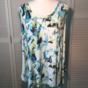 CYNTHIA ROWLEY Sleeveless Top Plus Size. 3X.